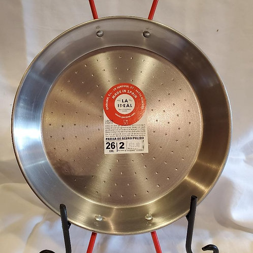 Paella Pan, Polished Carbon Steel