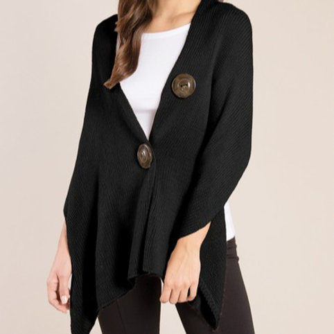 Button Up Black Wrap