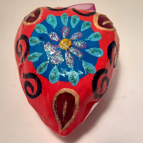 Heart, small glossy ornament