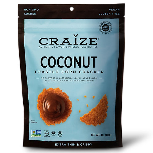 Coconut Toasted Corn Crackers