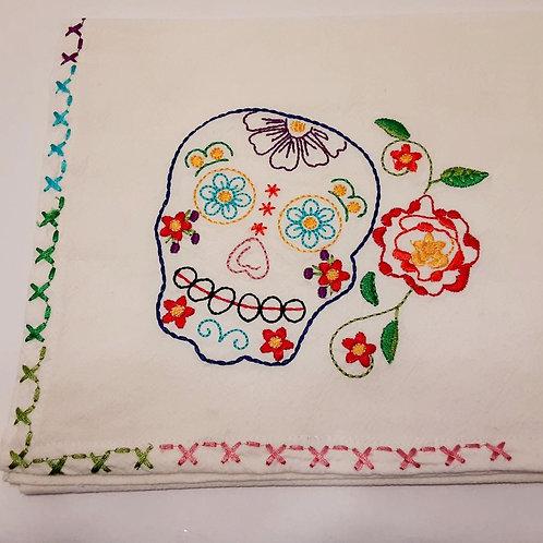 Sugar Skull Tea Towel