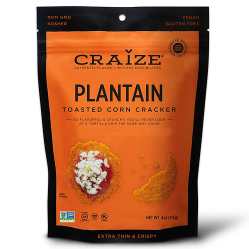 Plantain Toasted Corn Crackers