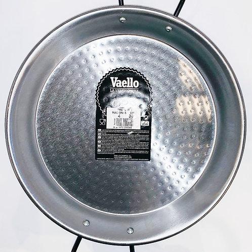 30cm Paella Pan, Polished Carbon Steel