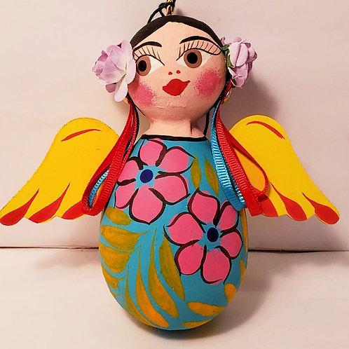 Angel, flowered ornament