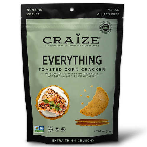 Everything Toasted Corn Crackers