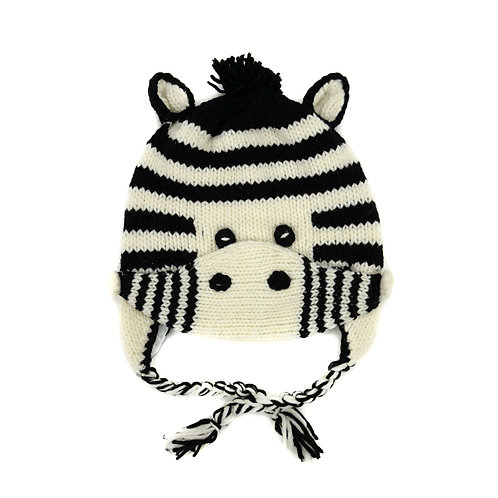 Zebra Hat with Mask