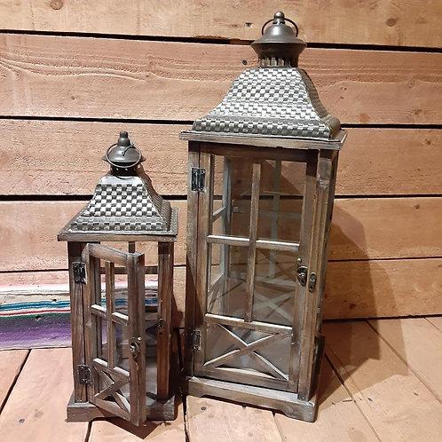 Lantern, Large Wood