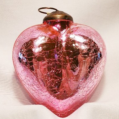 Crackle Glass Heart