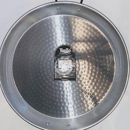38cm Paella Pan, Polished Carbon Steel