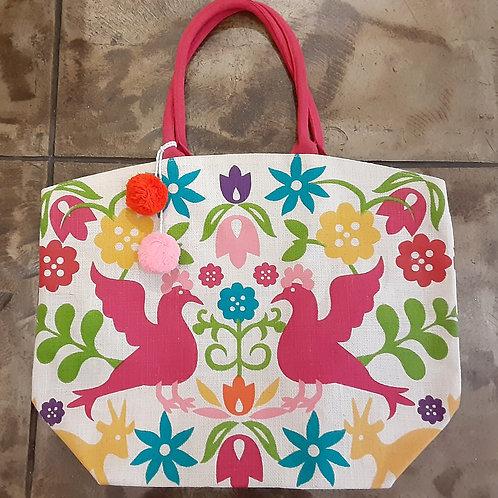 Otomi Patterned Market Bag