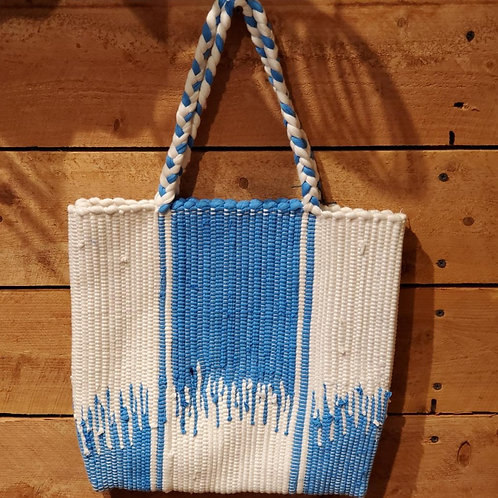Woven bag with design