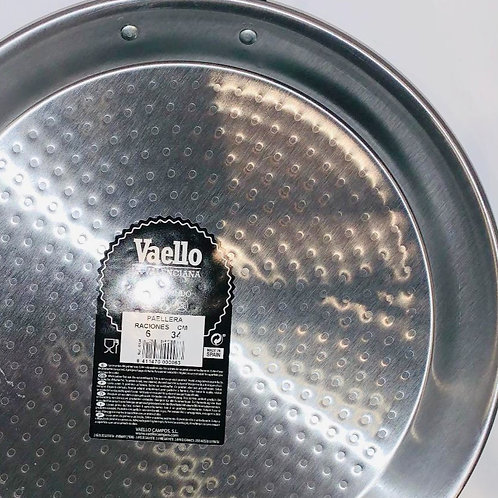 34cm Paella Pan, Polished Carbon Steel