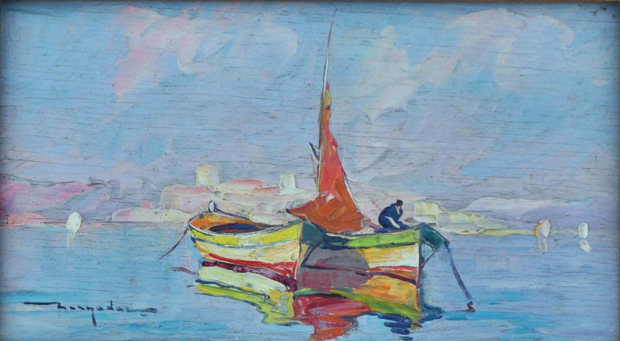Barques devant Antibes