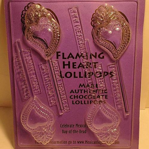 Flaming Heart Lollipop Mold