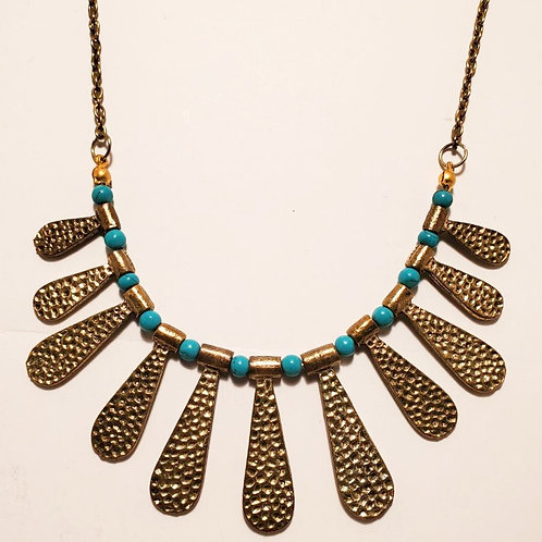 Gold and Turquoise Choker