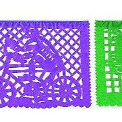 9x7 Skeleton Paper Papel Picado