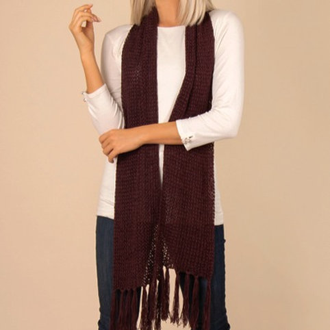 Scarf, straight knit