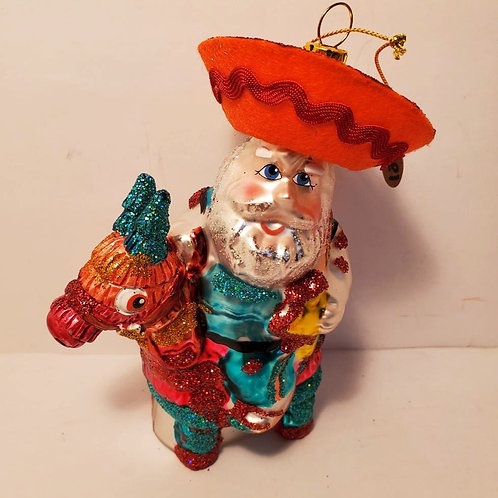 Santa with   Piñata