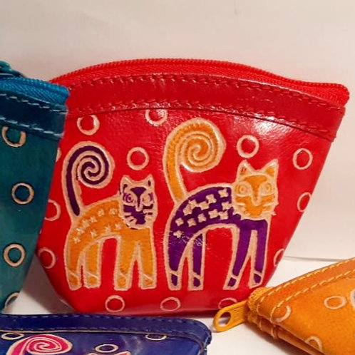 Two Cats Coin Purse