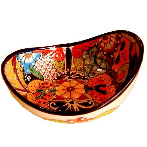 Large Curved Talavera Serving Bowl