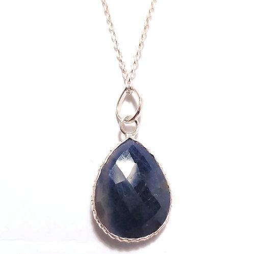 Sapphire Pendant on chain