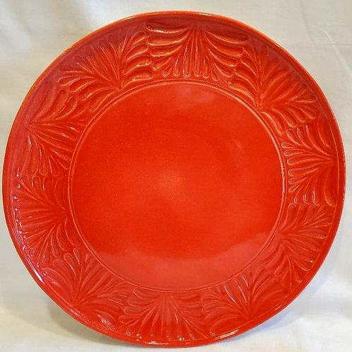 Embossed Red Plates, 2 sizes