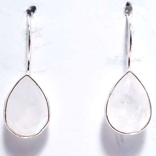 Sterling Silver and Moonstone Earrings