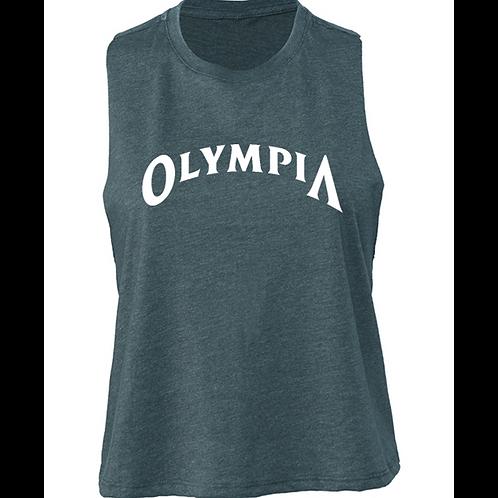 Olympia Cut Off Tank-Blue