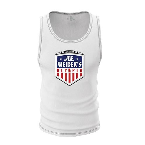 Joe Weider's Olympia White USA Cotton Tank Top