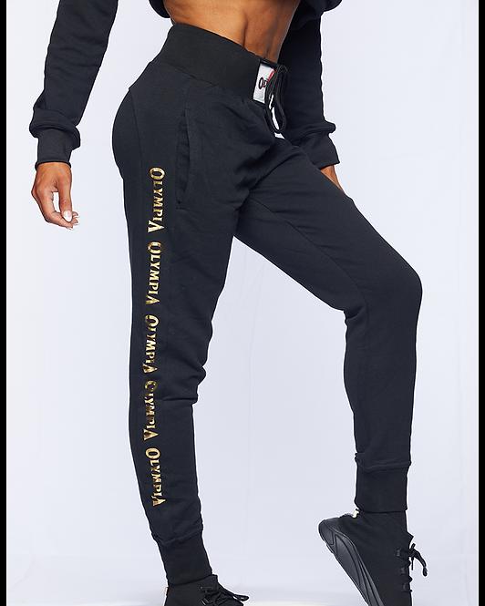 Olympia High Rise Sweatpants Black