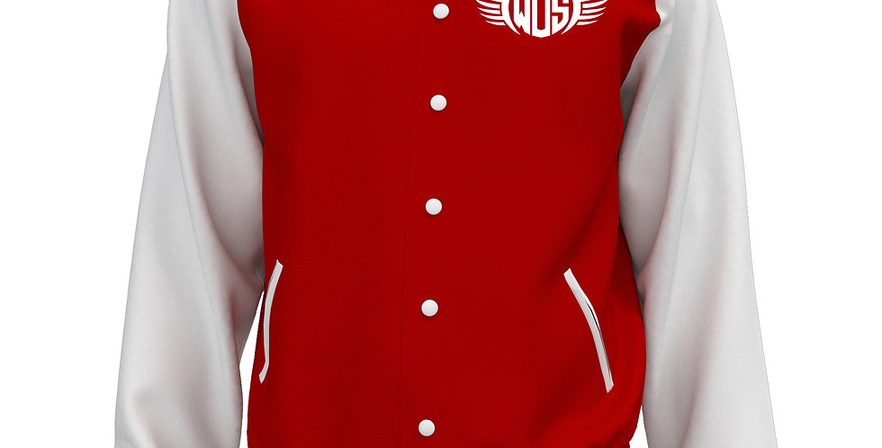 Wings of Strength Letterman Jacket Red & White