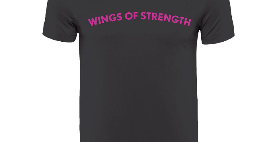 Black Wings of Strength Unisex Purple Arch WOS T-Shirt