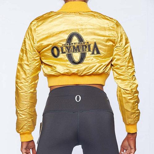 Olympia Gold Bomber Jacket