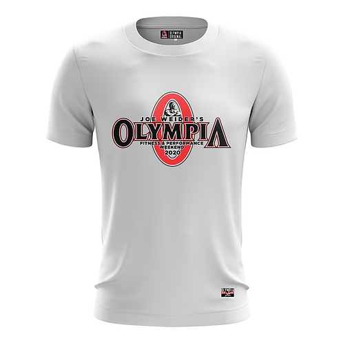 White Olympia Classic 2020 Dry Performance T-Shirt