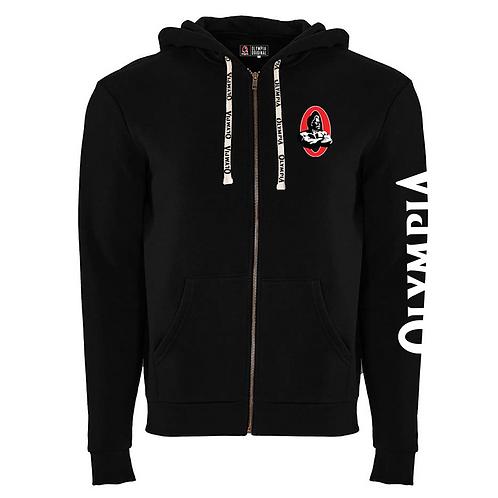 Olympia Black Fleece Full-Zip Hooded Fleece Jacket