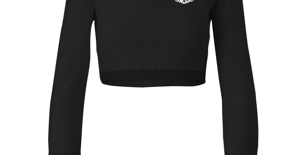 Black 1/4 Zip Wings of Strength Jacket with WOS Design