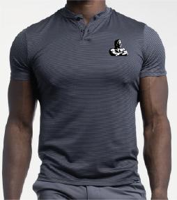 Olympia Gray Stripe Polo Shirt