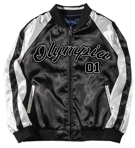 Olympia Black Baseball Jacket