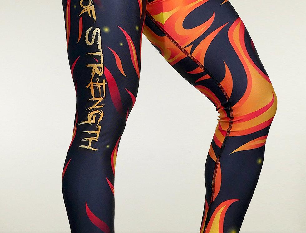 Wings of Strength Women's Flames All Around Leggings