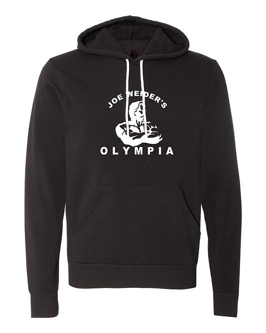 Joe Weider's Olympia OG Black Fleece Light Pullover Hoodie