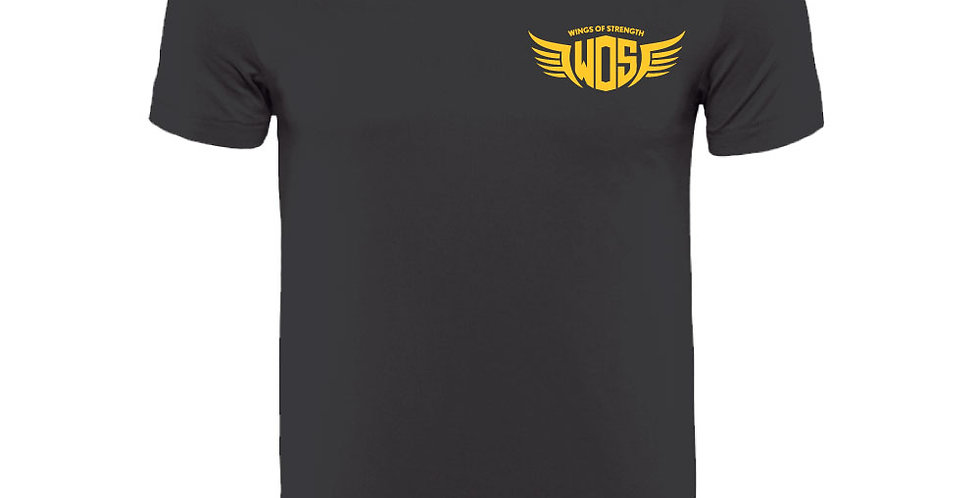 Black Wings of Strength Unisex WOS Bodybuilding T-Shirt