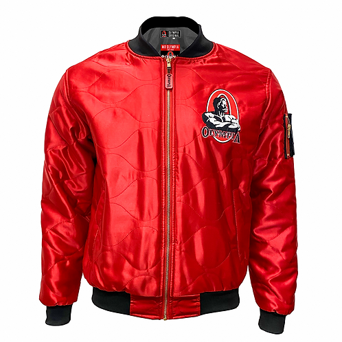 Olympia Original Bomber Jacket:       Olympia Red