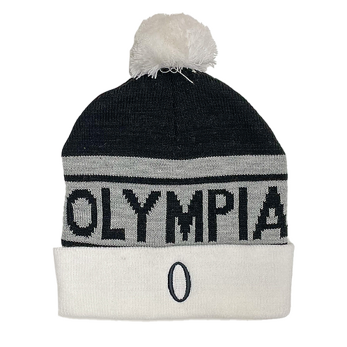 Black Grey and White Beanie
