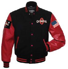 Olympia letterman Jacket in Black