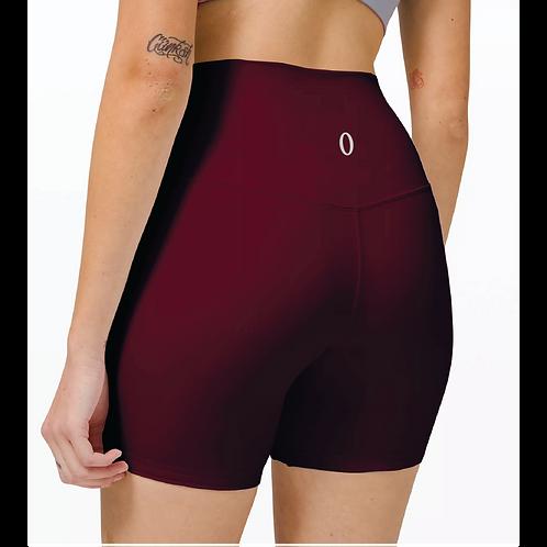 "Olympia Maroon Biker Shorts 6"""
