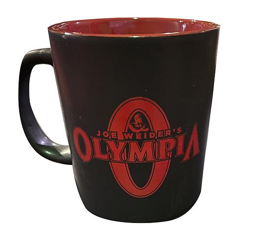 Olympia Black Graphite with Red Coffee Mug
