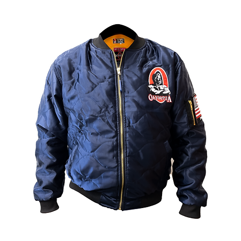 Olympia Original Bomber Jacket: Marvel Navy