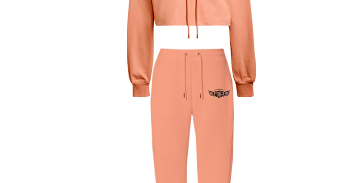 Wings of Strength Crop Hoodie & Jogger Pants Set with WOS Design