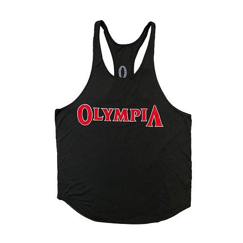 Olympia Black Y-Back Stringer Tank Top