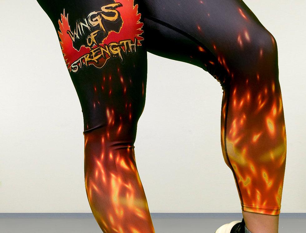 Wings of Strength Women's Flame Ankle Leggings